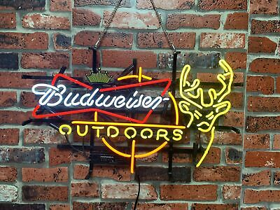 $ CDN288.87 • Buy New Budweiser Outdoors Deer Crown Neon Light Sign 24 X20  Beer Bar Lamp