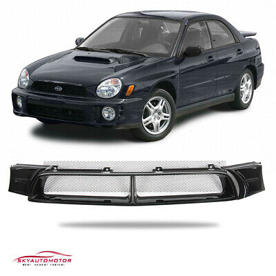 $54 • Buy Fit For 2002-2003 Subaru Impreza WRX STI Front Grille Grill Mesh ABS Gloss Black