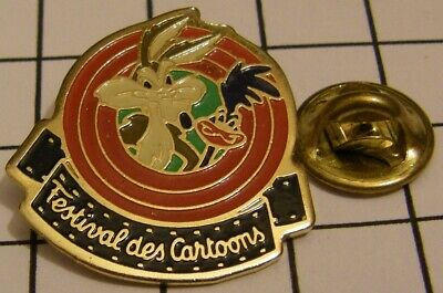 WILE E. COYOTE AND THE ROAD RUNNER CARTOONS FEST. 1991 WARNER BROS Pin Badge Z4X • 4.99£