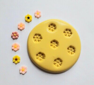 Tiny FLOWERS Silicone Mould 8 Mm Sugarcraft Fimo Cake Decorate Clay Fondant • 5.90£