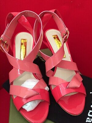 BNWB Rupert Sanderson Pink And Coral Sandals Size 4/37 • 65£