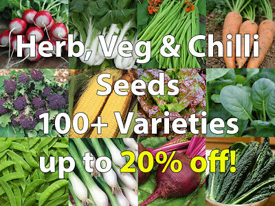 Herb, Vegetable,Chilli Seeds Pack 100+ Varieties/Collection/Mix - Only 79p Each! • 0.99£