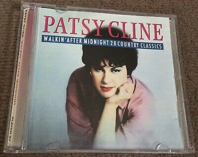 Patsy Cline Cd, Walkin' After Midnight, 28 Country Classics, Vgc • 2£