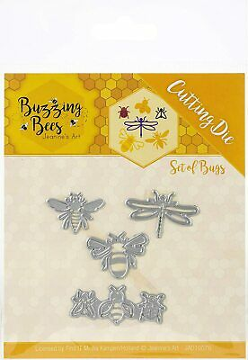 £9.99 • Buy Jeanine's Art Buzzing Bees Dragonfly Ladybird 4 Pce Die Set Birthday Card Making