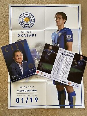 LEICESTER CITY Football Club Programme 2015/16 TITLE WINNING Season & Poster • 1.25£