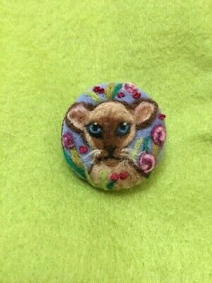 Handmade Needle Felted 'Susie The Siamese Cat' Brooch/Gift • 7.99£