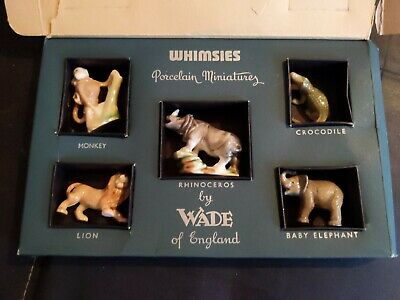 Wade Vintage First Whimsies. Set 4 African Jungle Animals. 1955-58 • 22.99£