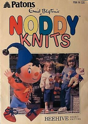 Bbc Enid Blyton's 'noddy Knits' Knitting Patterns 3 Toys 3 Sweaters And Cardigan • 4.95£