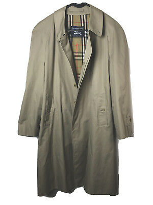 $138 • Buy Vintage Burberry Men's Double-Breasted Classic Trench Coat.size 42 R