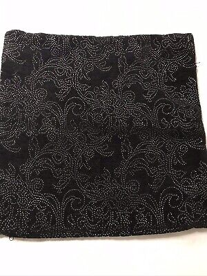 £5 • Buy Dunelm Mill Black/ Silver Cushion Cover