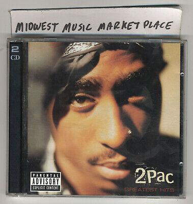 2Pac - Greatest Hits Explicit [PA] Two-CD Set - Amerikaz Most Wanted - Trapped • 7.07£