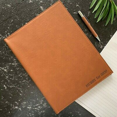 AU28.50 • Buy Valentines Day Gift Personalised Engraved Leatherette Notebook With Pen For Him