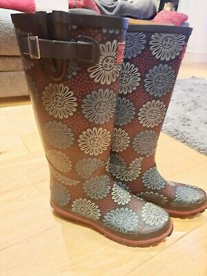 ❤ Seasalt Wellington Boots ❤ Size 5 With Matching Flower Pot Hat • 30£