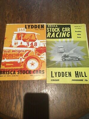STOCK CAR RACING PROGRAMMES From Lydden Hill 1972 And 1973 • 2.99£