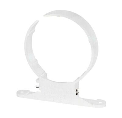 POLYPIPE Soil And Vent 110mm Plastic Pipe Clip, White 6 In Pack • 10£
