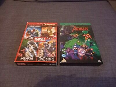 MARVEL Animation & Avengers Earth's Mightiest Heroes. 2x DVD Box Sets Bundle • 8£
