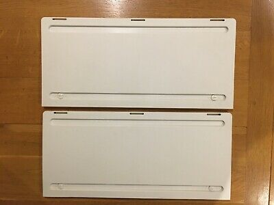 Pair Of White Motorhome Dometic Fridge Vent Winter Covers. Excellent Condition. • 0.99£