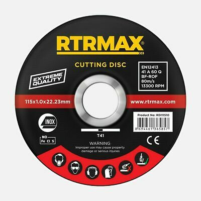 £2.49 • Buy 115mm 4.5  Ultra Thin Metal Cutting Discs / 115mm Cutting Disc Angle Grinder