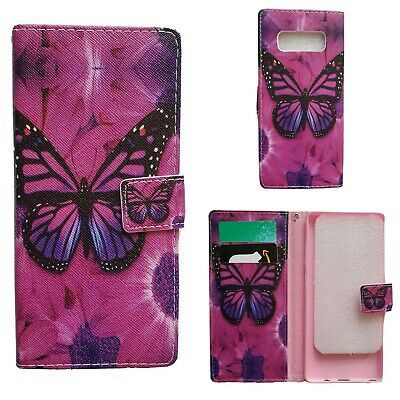 $ CDN4.98 • Buy Samsung Galaxy Note 8 Butterfly Pattern Leather Wallet Case With Card Slots