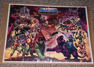 $49.95 • Buy RARE Vintage 1984 Motu HE MAN MASTERS OF THE UNIVERSE POSTER MAIL AWAY MATTEL