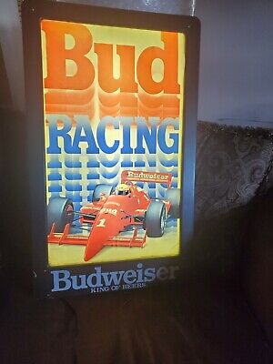 $ CDN252.52 • Buy Vintage Bud Light Racing Neon Beer Bar Rare 1991 Mancave Sign Budweiser Indy Pub