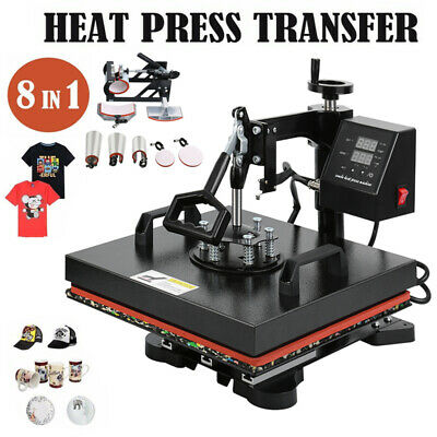 AU306.63 • Buy 8 In 1 Heat Press Digital Transfer Sublimation T-Shirt Mug Hat Ridgeyard 15 X12