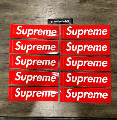 $ CDN18.79 • Buy Supreme New York Red Bogo Sticker Lot Of 10 Authentic NEW. IN HAND
