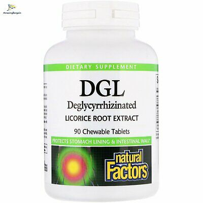 Natural Factors, DGL, Deglycyrrhizinated Licorice Root Extract, 90 Chewable Tabl • 19.62£