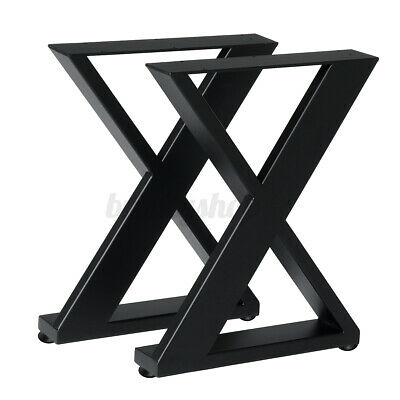 2PCS Metal Industrial Table Legs X-Shaped Frames Steel Stands Bench Coffee Desk  • 39.99£