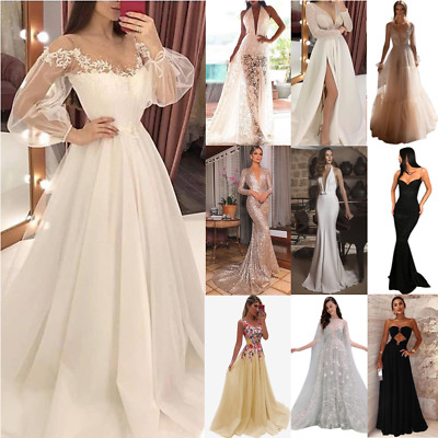 Women Sexy Maxi Dress Evening Party Prom Cocktail Wedding Bridesmaid Ball Gown • 28.39£