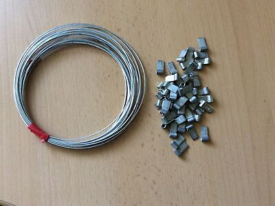 5 M Security Wire And 50 Flag Ferrules For Electric Meter, Landlords Sealing • 8£