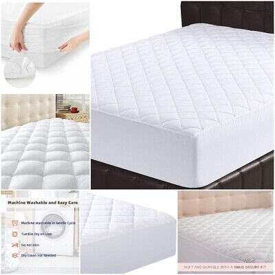 100/% Egyptian Cotton 200 thread count 40.6cm Extra Deep Quilted Mattress Protector
