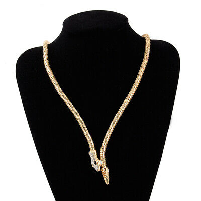 £3.79 • Buy Gold Silver Snake Pendant Necklace Collar Statement Chain Fashion Jewellery