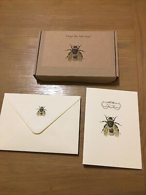 £5 • Buy Vintage Bee Writing Note Cards Box Set