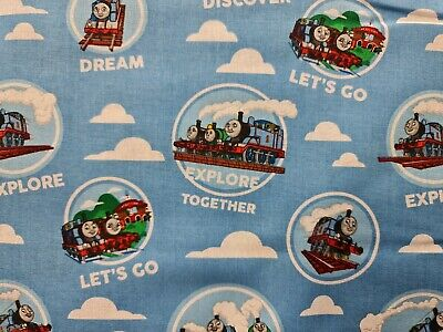 £10 • Buy Patchwork/craft 100% Cotton Fabric Thomas The Tank Engine & Friends Trains