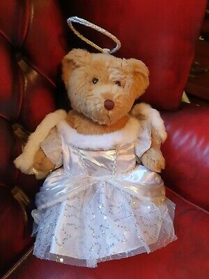 BUILDABEAR  Teddy Bear In Angel / Fairy Outfit With Wings And Halo Vgc • 6.95£