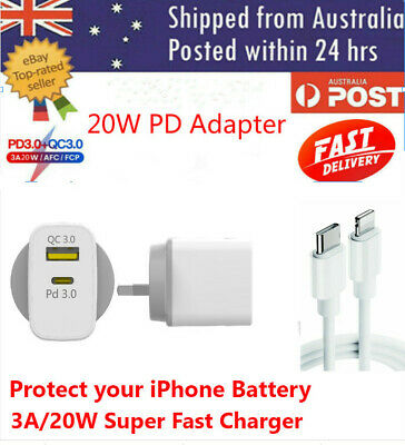 AU21.95 • Buy AU PD 20W USB-C Type C Fast Wall Charger Adapter For IPhone X/XR/12 11 Pro Max