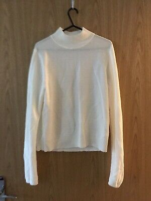 M&S Limited Collection White Cream Polo Neck Knit Size 14 • 6£