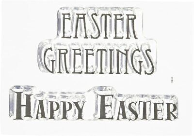 Woodware Easter Greetings Happy Easter 2 Pce Clear Stamp Set Easter Card Making • 3.25£