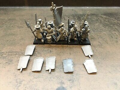 Warhammer Fantasy AOS Bretonnia 10 X Bretonnian Peasant Men At Arms Command OOP • 49.99£