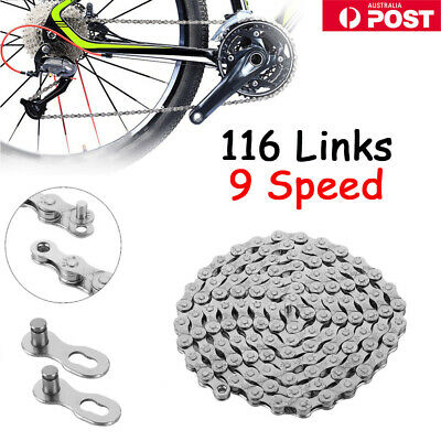 AU14.99 • Buy Road Bike Chain Steel Bicycle Chain 9 Speed Chain 116 Links  For Shimano CN-HG73