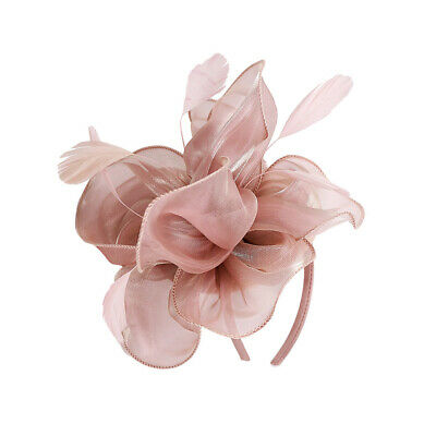 £3.61 • Buy Lady Flowers Fascinator Hat 1920s  Bridal Headband Cocktail Party Pink