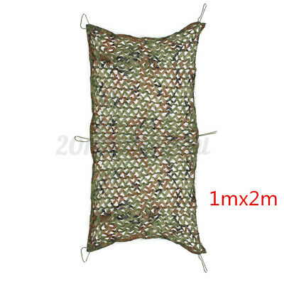 2x1m Camouflage Netting Camo Net Hunting Shooting Camping Army Green Hide Cover • 7.98£