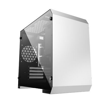 TEMPERED GLASS PC GAMING  CASE MICRO ATX CUBE USB C - IONZ KZ17 S/r • 34.95£