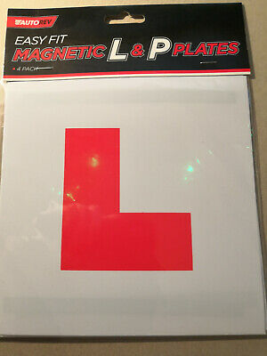 Learner Driver/ New Driver 'L' & 'P' Magnetic Plates - 4 Pack • 0.90£