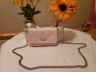 $ CDN50 • Buy Kate Spade Emelyn Leather Crossbody Shoulder Bag Purse Peatch Puff