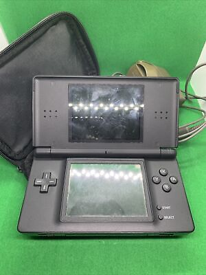 AU75 • Buy Nintendo DS Lite Black Handheld System With Bag And Charger