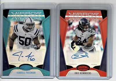 $ CDN10.16 • Buy (2) 2020 Panini Certified Football Mirror Signatures Auto Card Lot Colts Vikings
