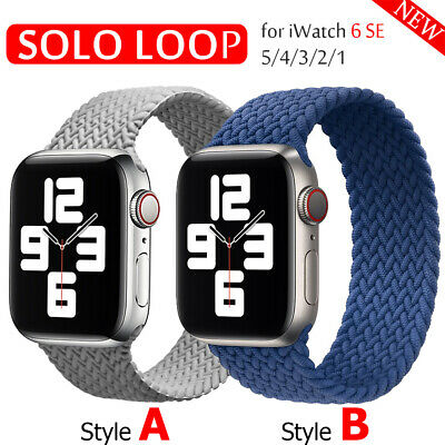 $ CDN5.95 • Buy Solo Loop Braided Elastic Strap Band For Apple Watch Series 6 SE 5 4 3 40MM/44MM