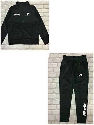 Nike Air Boys Poly Half Zip Black Track Top / Pants Childrens Sold Separatley • 24.50£